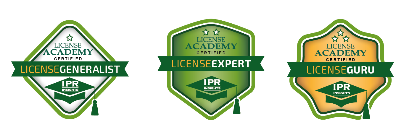 IPR-insights LicenseAcademy e-badges