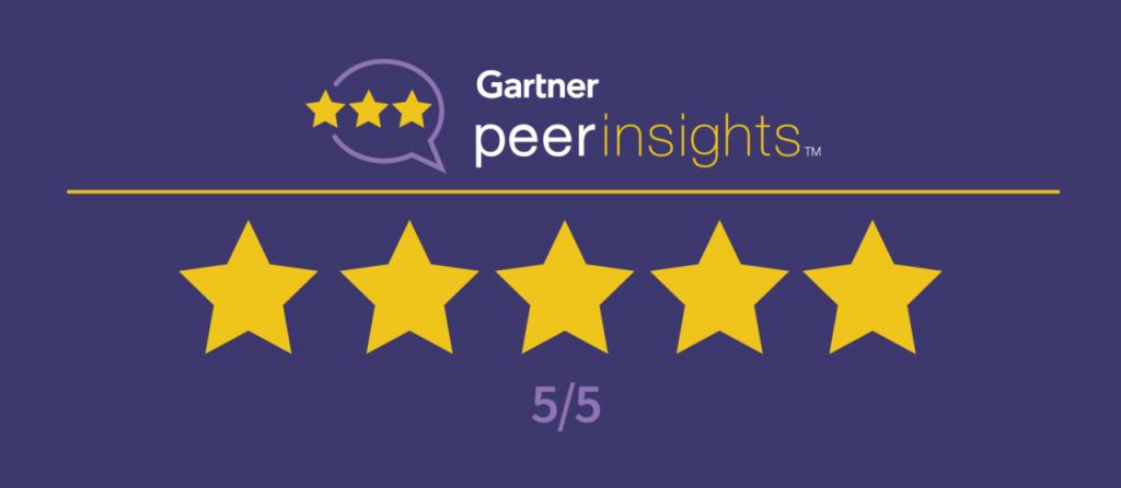 Gartner PeerInsights 5 Stars
